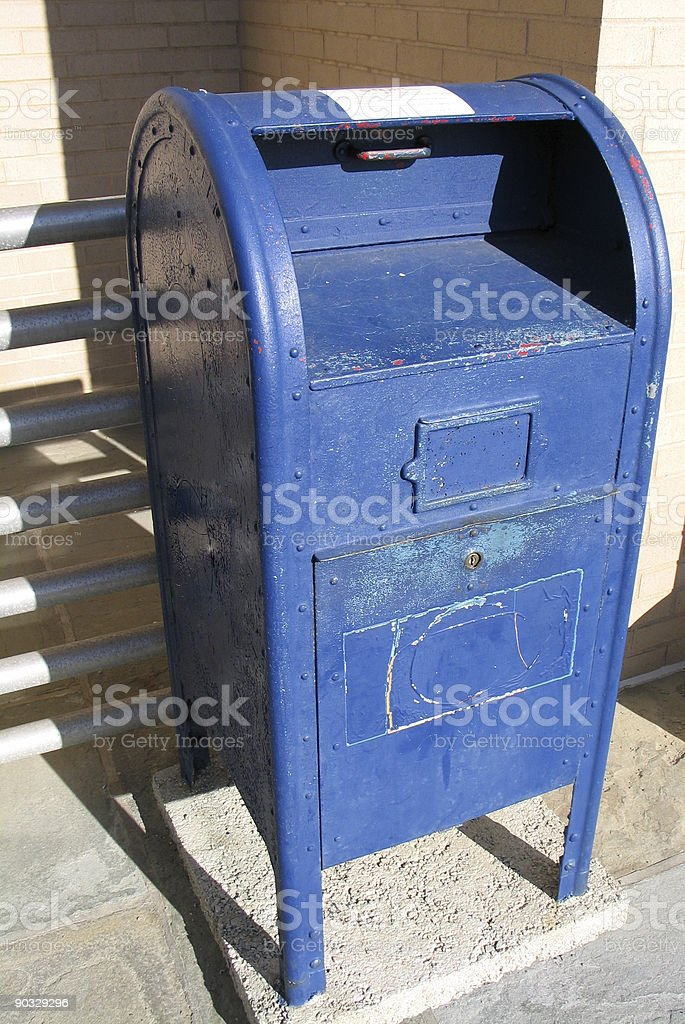 Blue Mailbox royalty-free stock photo