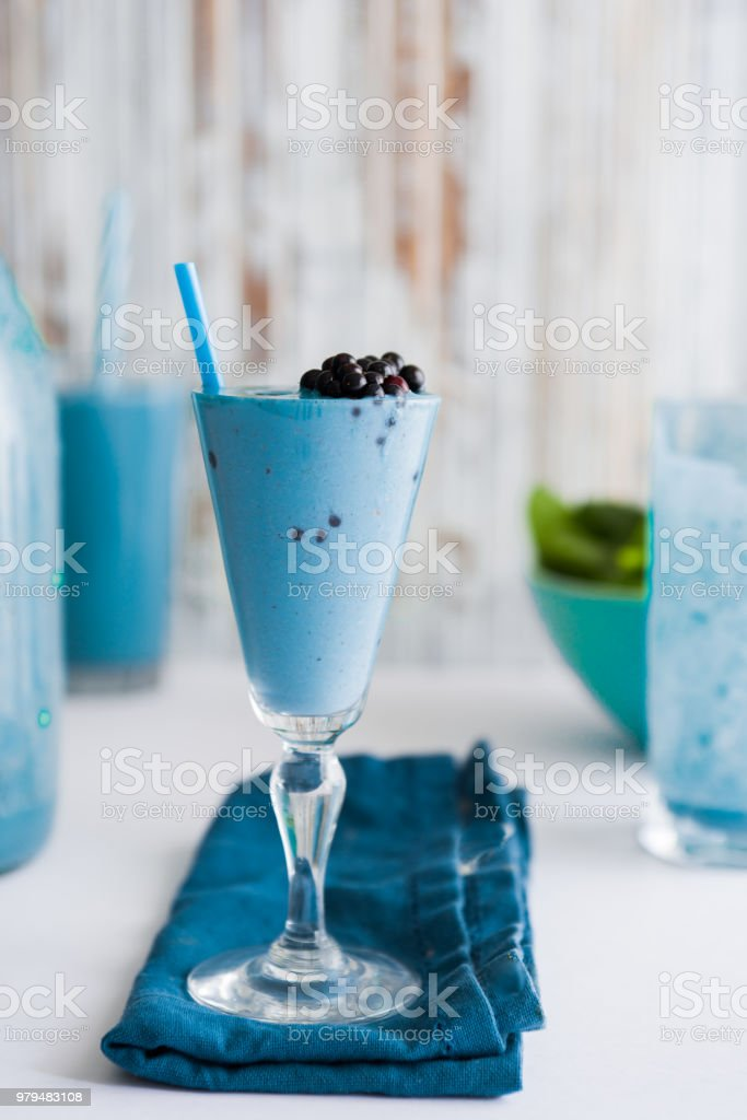 Blue Majik smooothie stock photo
