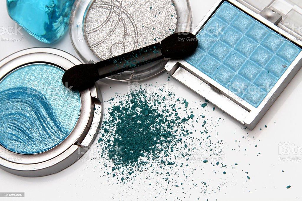 Blue make up stock photo
