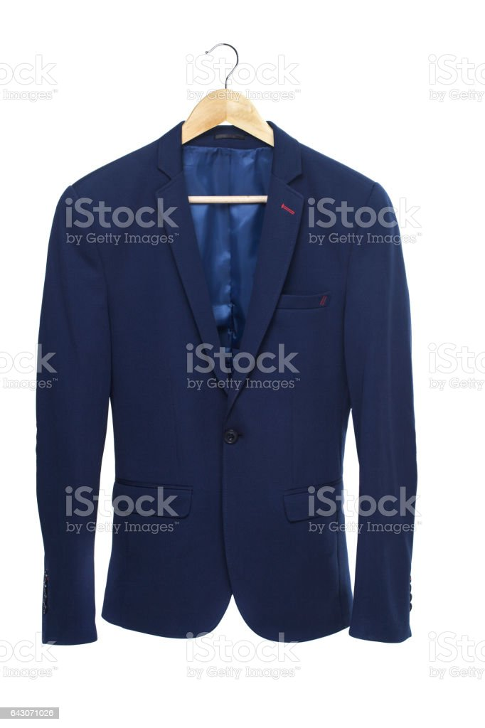Blue male jacket stock photo