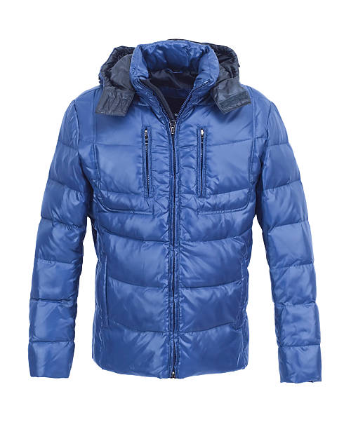 blue male winter jacket isolated - 冬天大衣 個照片及圖片檔