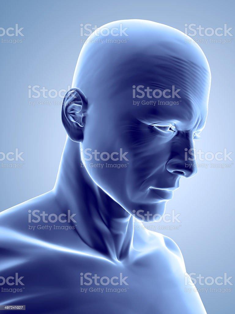 Blue Man royalty-free stock photo