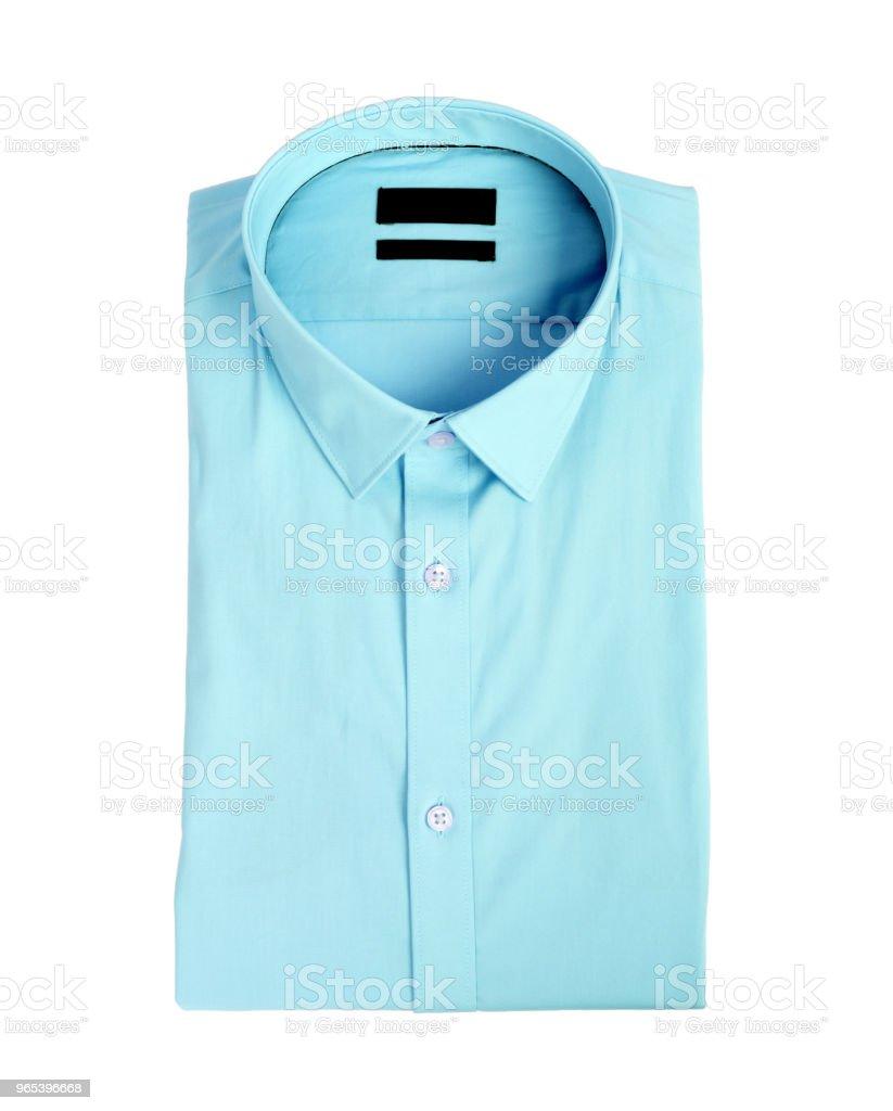 Blue man shirt on white background zbiór zdjęć royalty-free