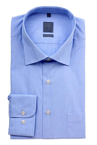 Homem de camisa azul - foto de acervo