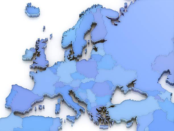 europa-karte - ec karte stock-fotos und bilder