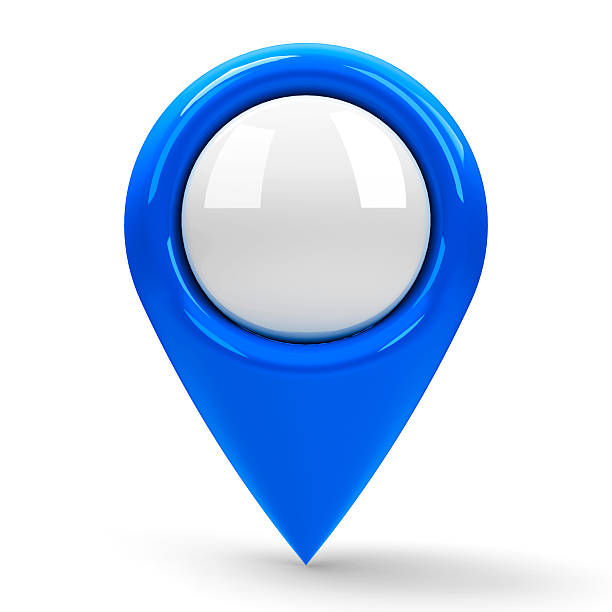 Blue map pointer blank stock photo