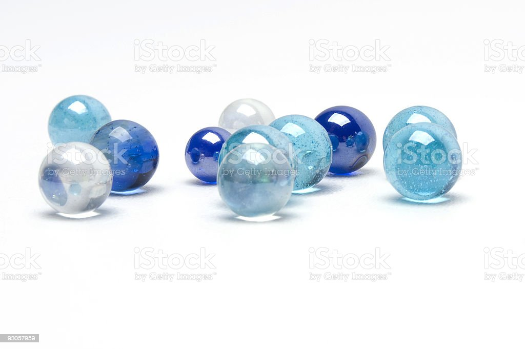 Blue Marbles stock photo