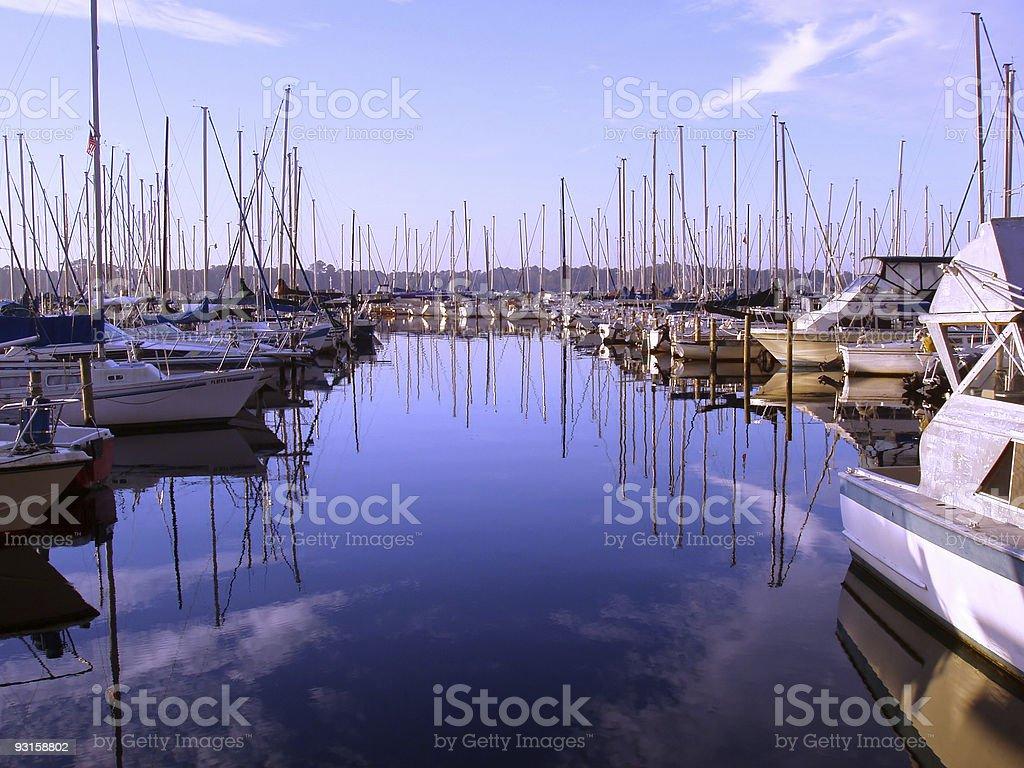 Blue Marina stock photo