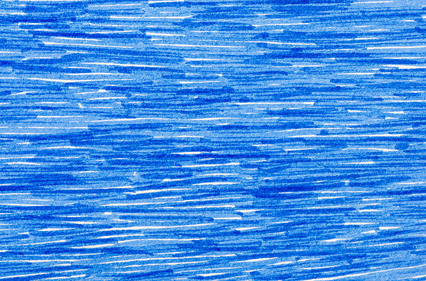 blaue markierung kritzeleien auf weißes papier-hintergrund - scribble stock-fotos und bilder