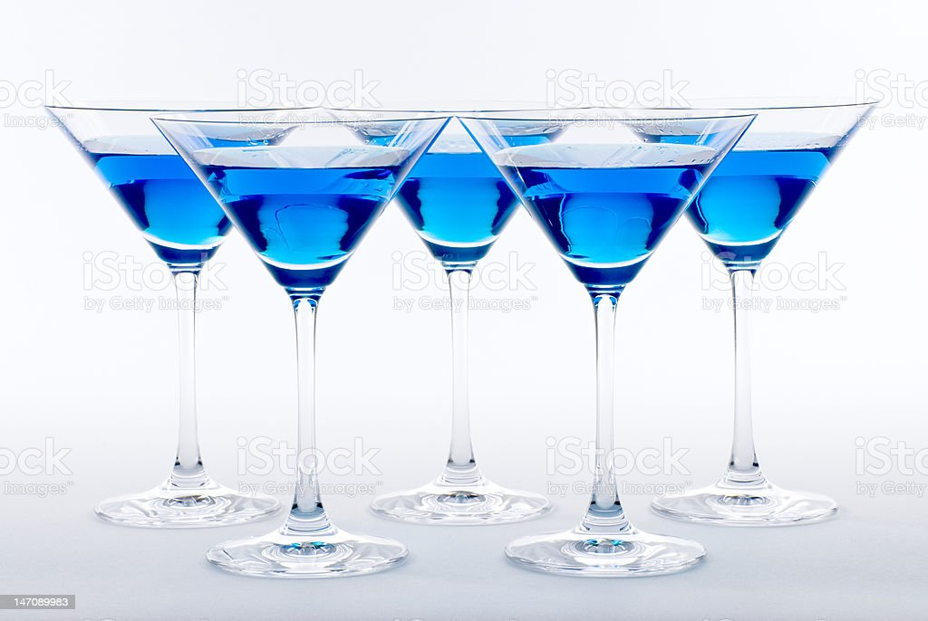 Blue Martini Cocktail royalty-free stock photo