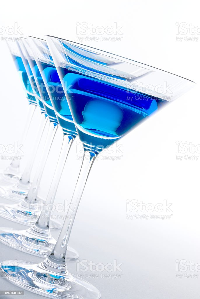Blue Martini Cocktail stock photo