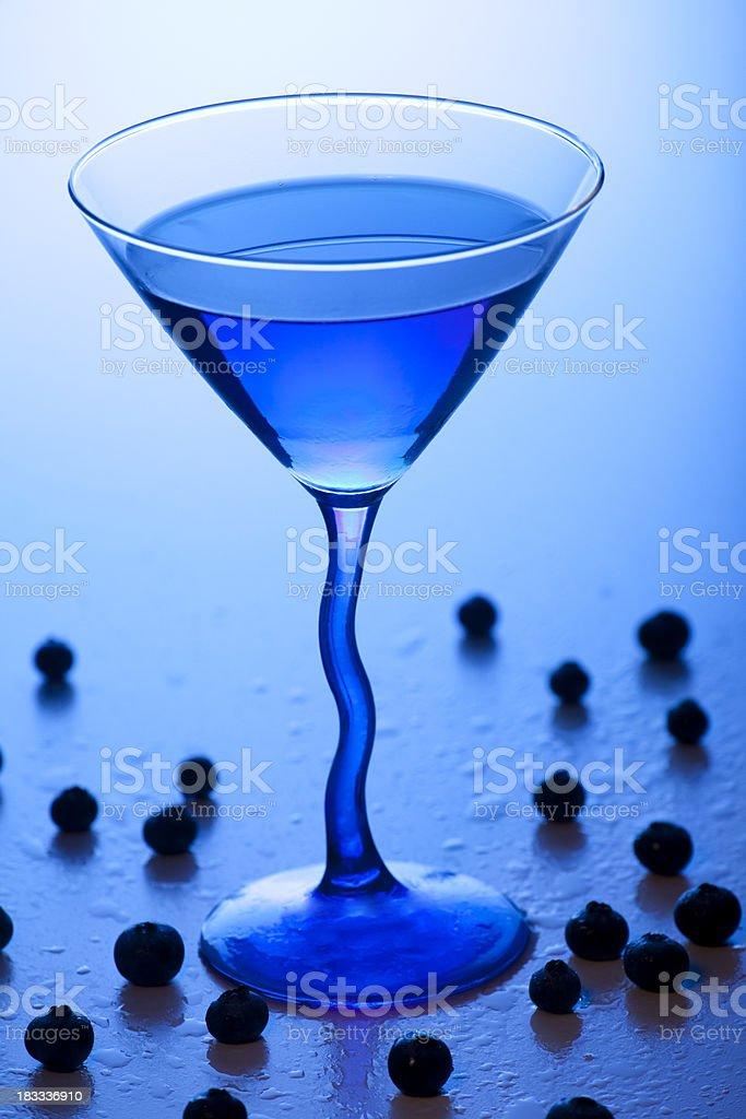 Blue Martini stock photo