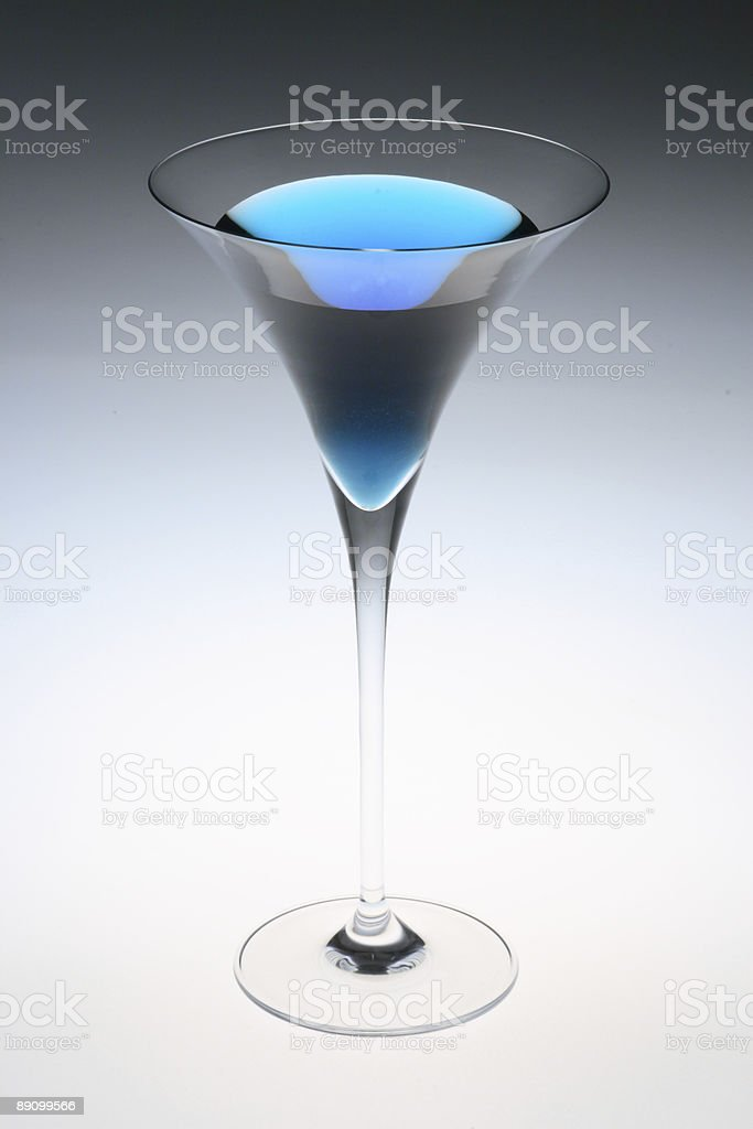 Blue Martini royalty-free stock photo