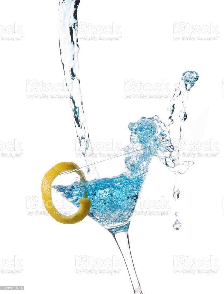 Blue Martini Splash stock photo