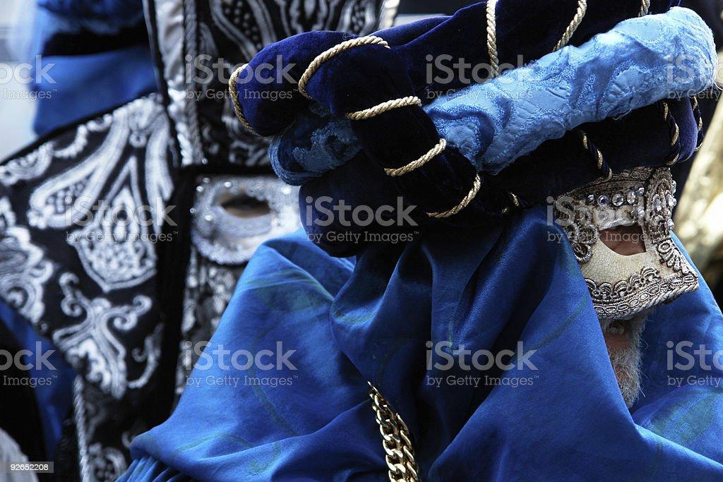 blue masks royalty-free stock photo