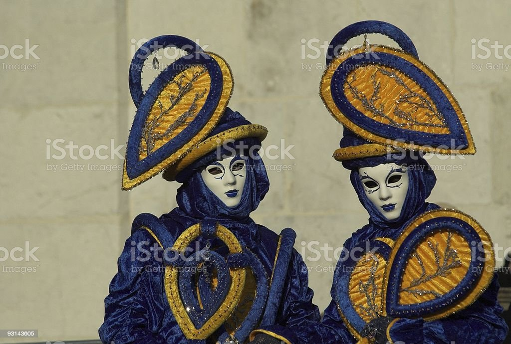 Blue masks royalty-free stock photo