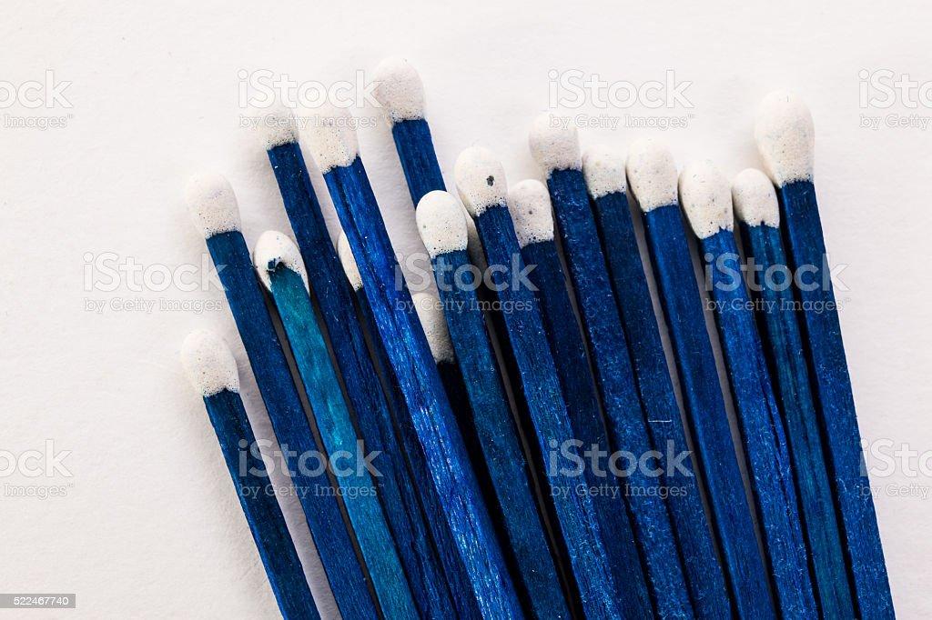 blue match macro stock photo