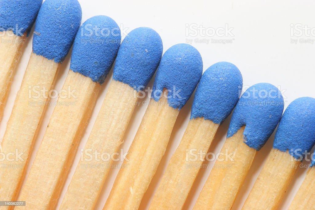 blue match sticks royalty-free stock photo