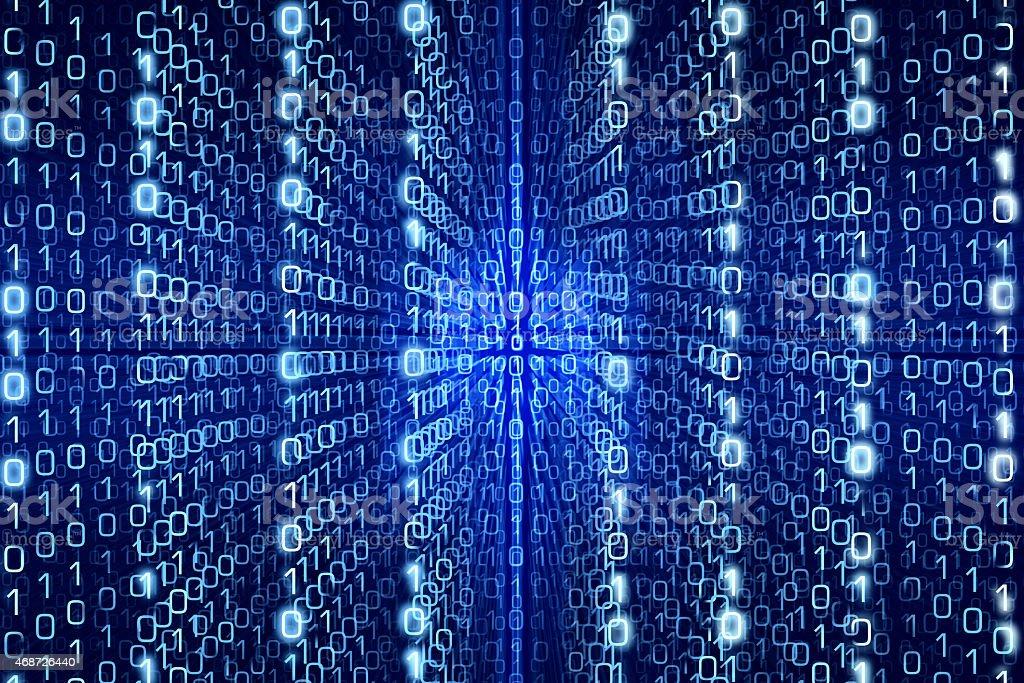 Blue Matrix Abstract  Digital background stock photo