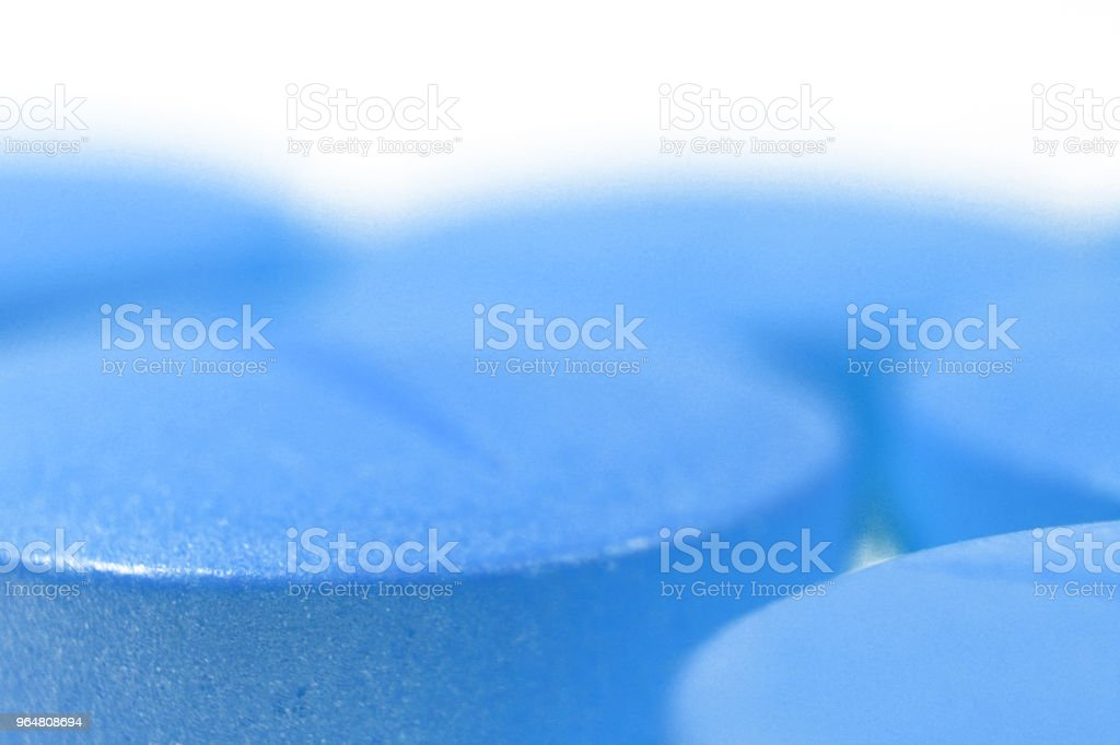 Blue Medicine Tablets. Pharmacy Pills Background with Place For Text. Macro Closeup. royalty-free stock photo