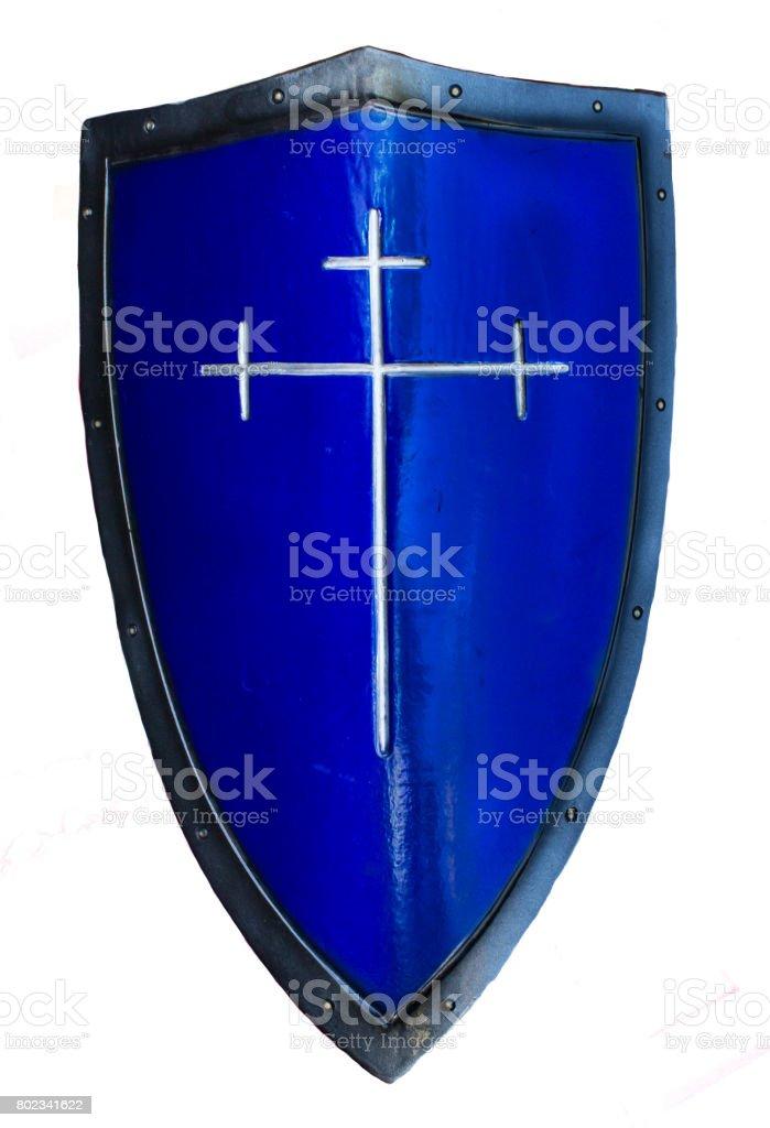 Fotografía de Azul Histórico Templarios Escudo Armadura Medieval y ...
