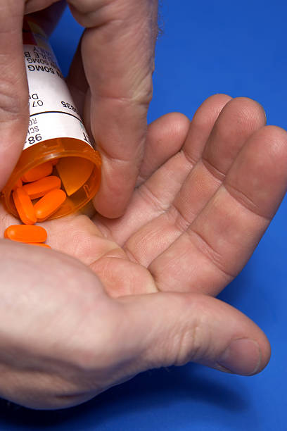 blue meds #2 - prescription meds stock pictures, royalty-free photos & images