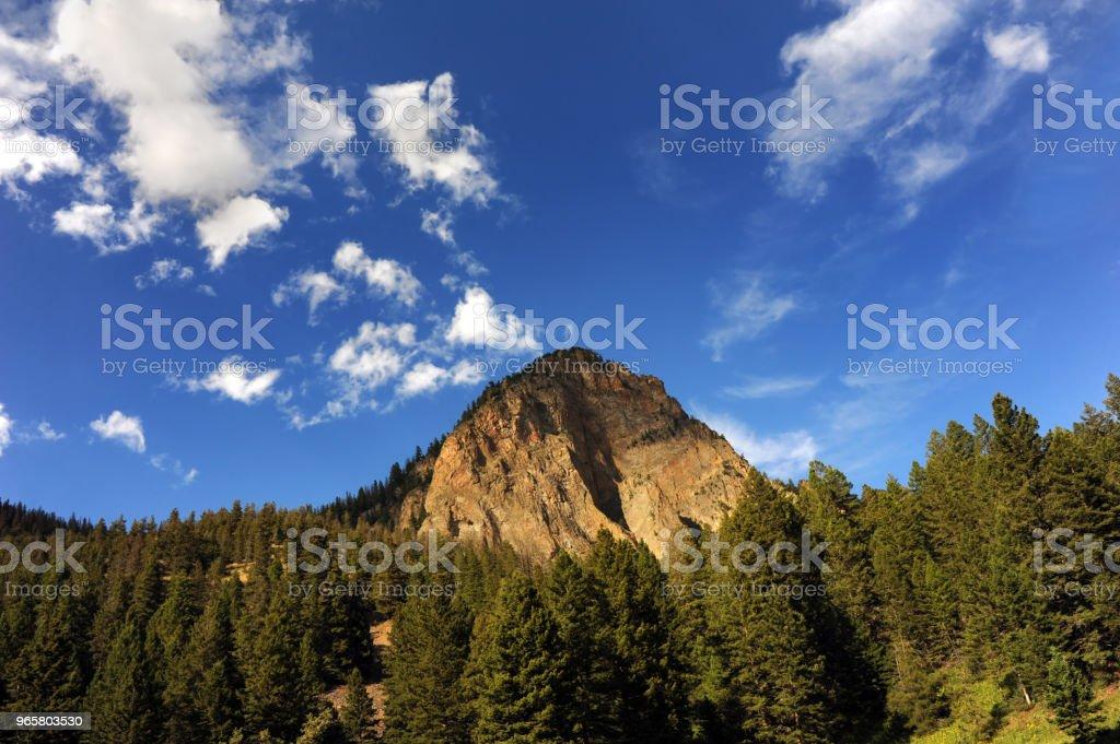 Blue Meets Mountain - Royalty-free Absaroka Range Stock Photo