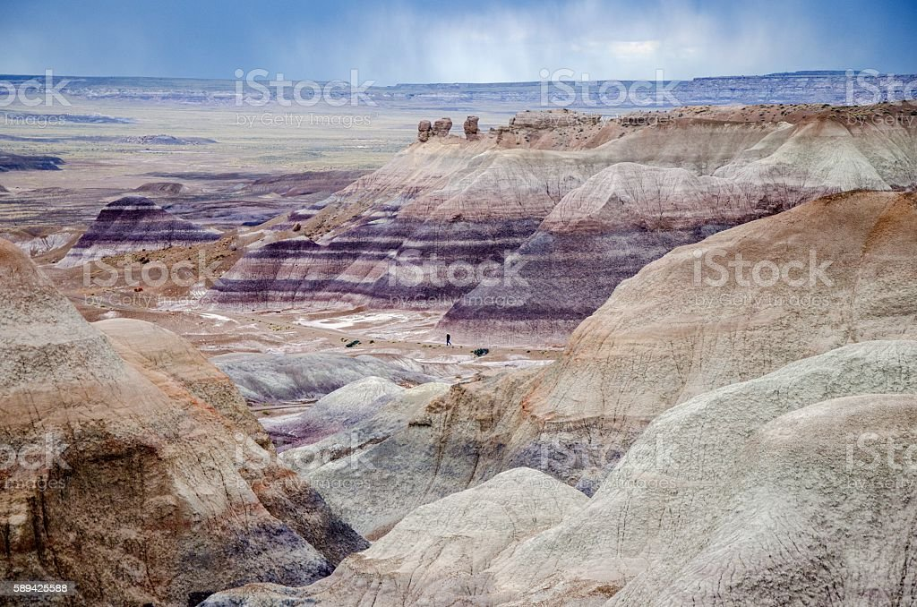 Blue Mesa overlook by a rainy day stock photo