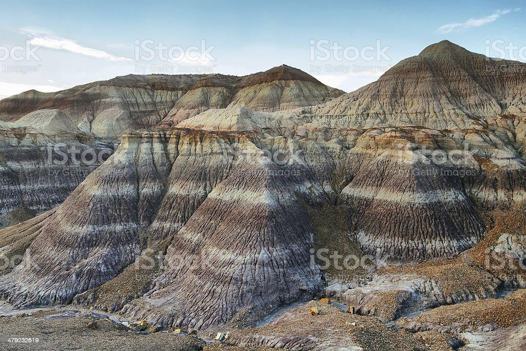 Blue Mesa, Petrified Forest National Park stock photo