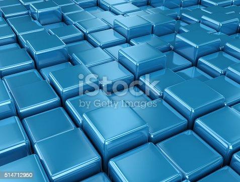 96897092 istock photo Blue metal etal cubes close up 514712950