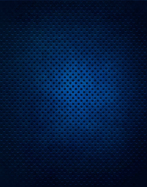 Blue Metal Grate Background stock photo