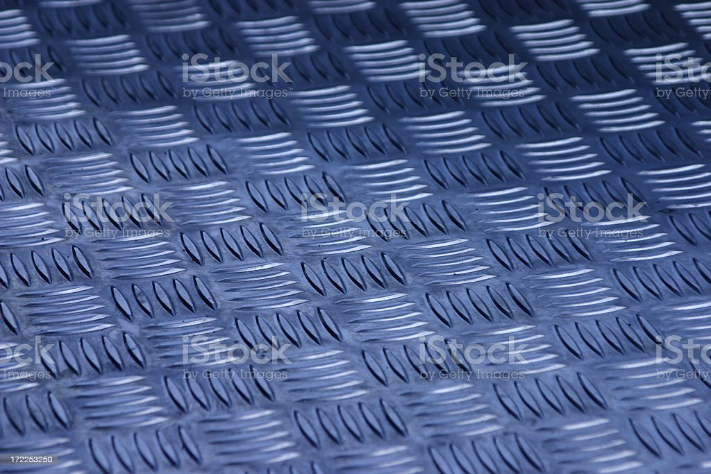 Blue metal pattern royalty-free stock photo