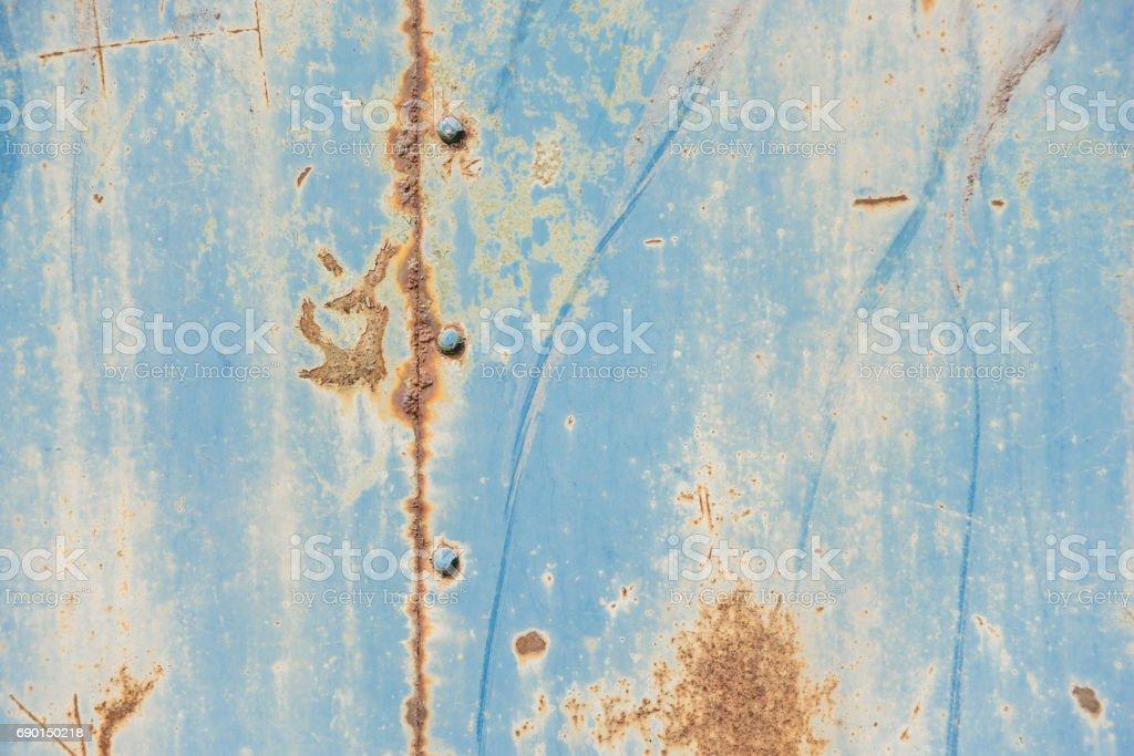 Blue metal surface stock photo