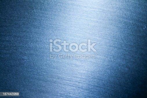 istock Blue metallic texture 157442059