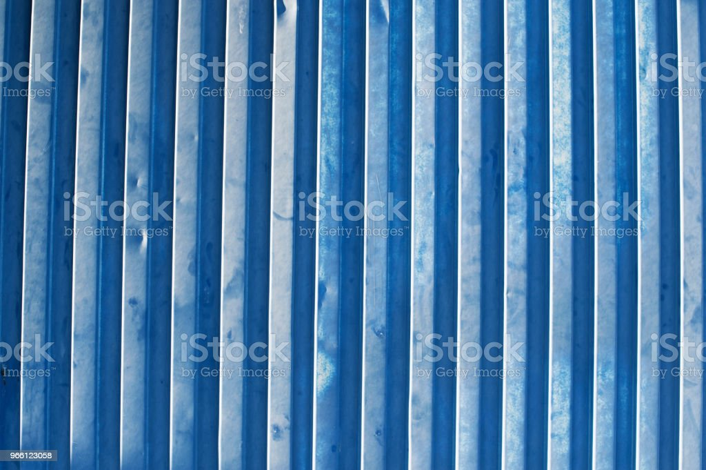 Blå Metallic vägg - Royaltyfri Arbetssäkerhet Bildbanksbilder