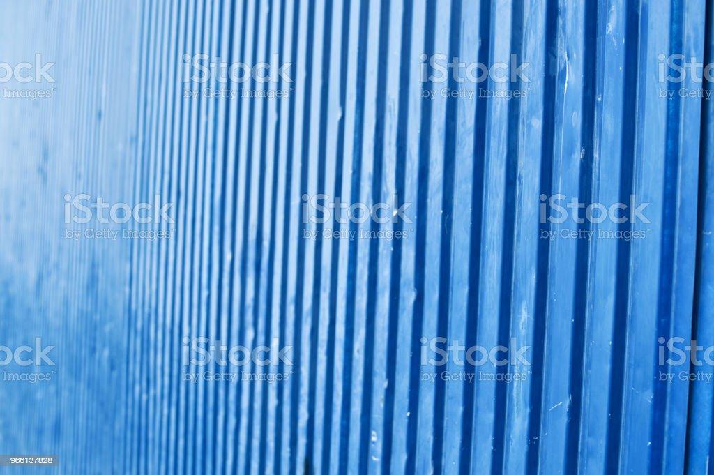 Blauwe Metallic muur - Royalty-free Achtergrond - Thema Stockfoto