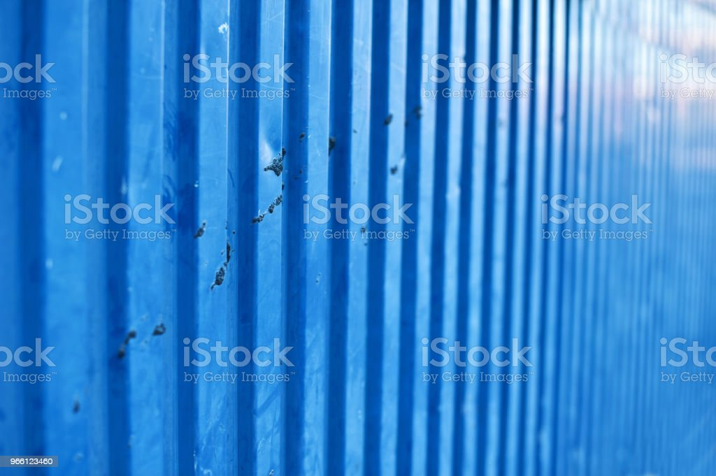 Blue Metallic Wall Smeared By Bird Dung - Royalty-free Animal Dung Stock Photo