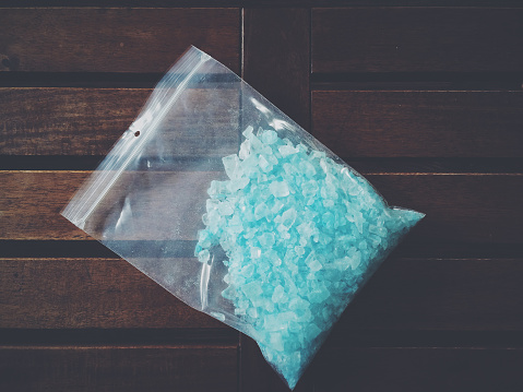 A bag of blue meth (stock image)