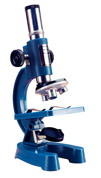 Blue Microscope stock photo