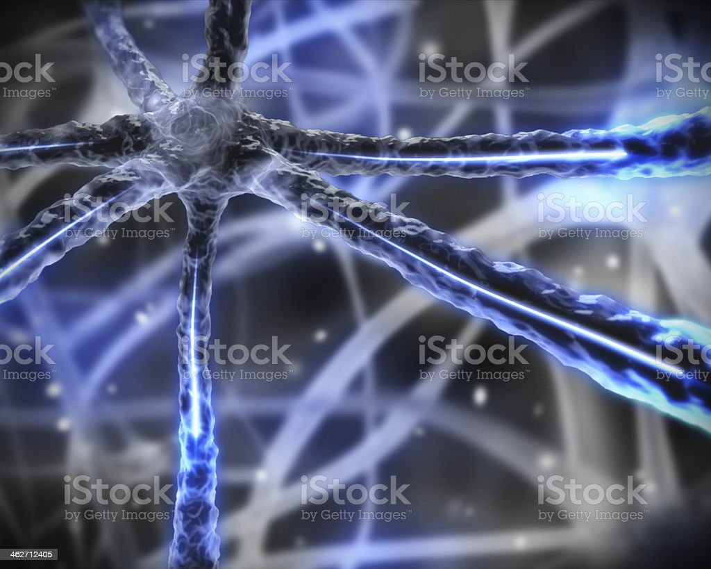 Blue microscopic nervous system royalty-free stock photo