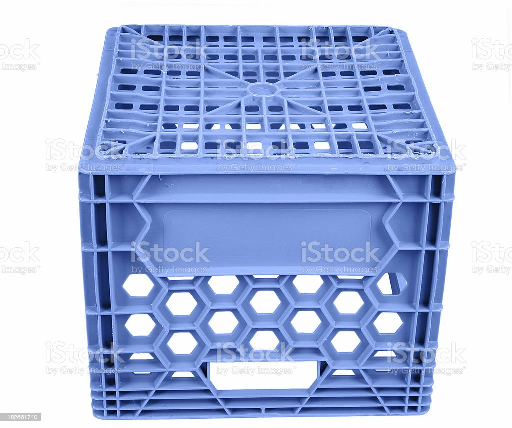 milk crates stock photo blue milk crate to sit on stock photo