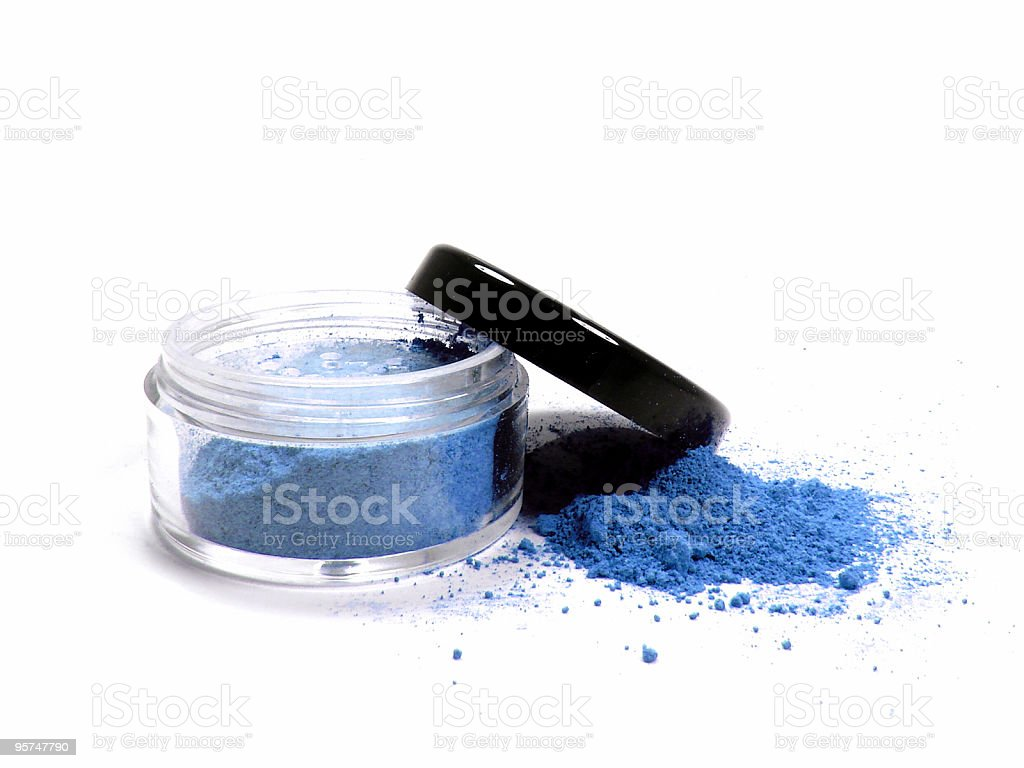 Blue mineral make up royalty-free stock photo