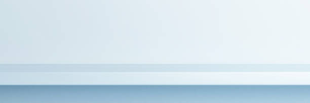 Blaues Minimalregal, Nahaufnahmekonzept – Foto