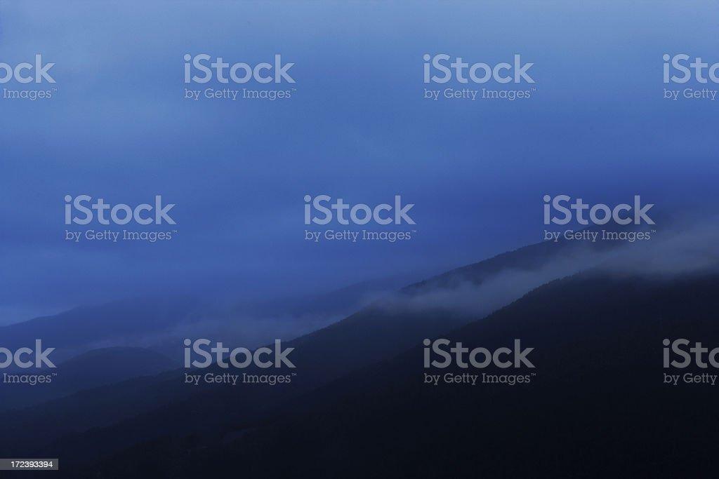 Blue misty mountains royalty-free stock photo