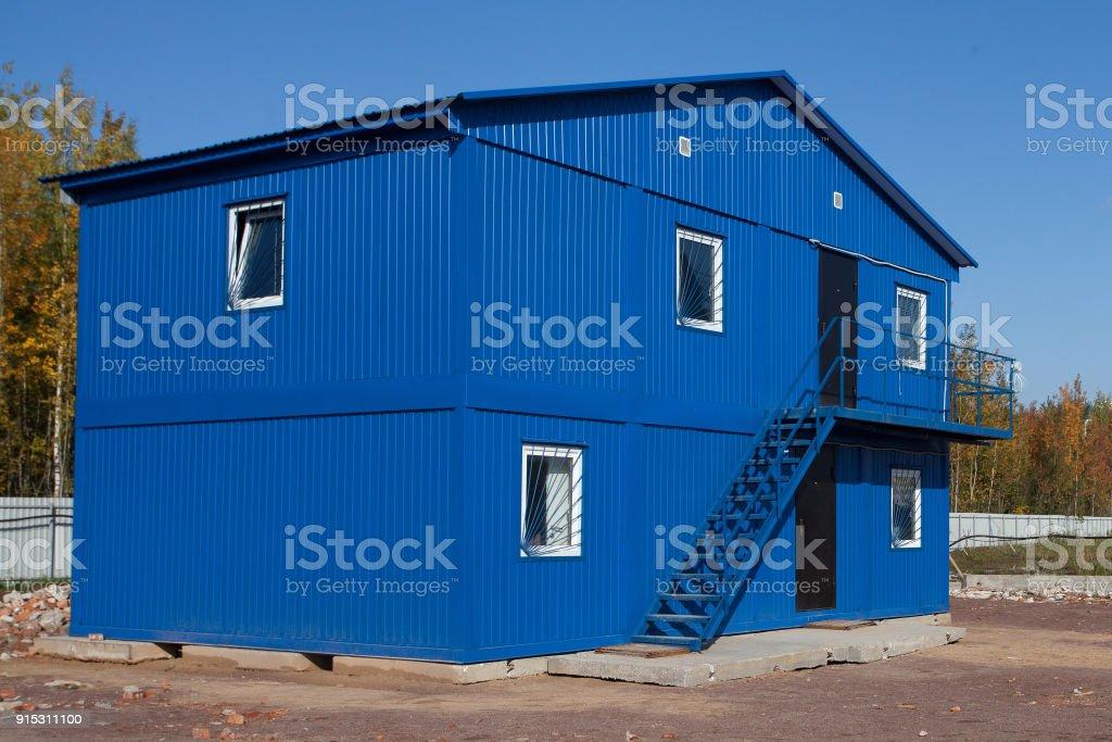 Bleu mobile b timent industriel conteneur site ou au bureau en