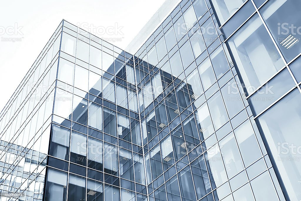 blue modern business buildings royalty-free stock photo