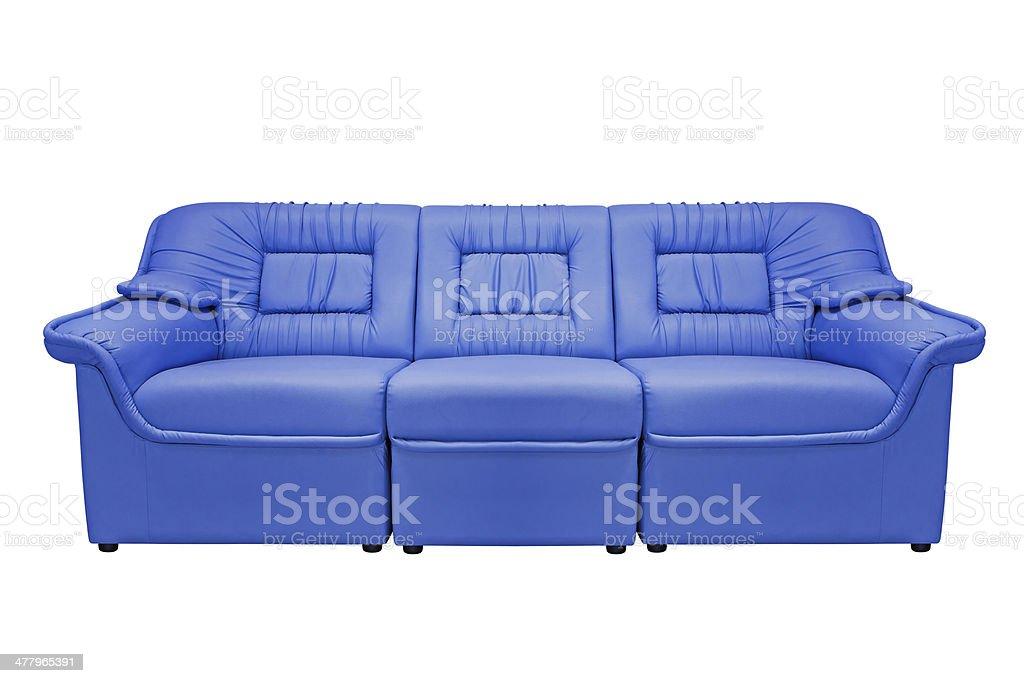 Blue modern sofa royalty-free stock photo