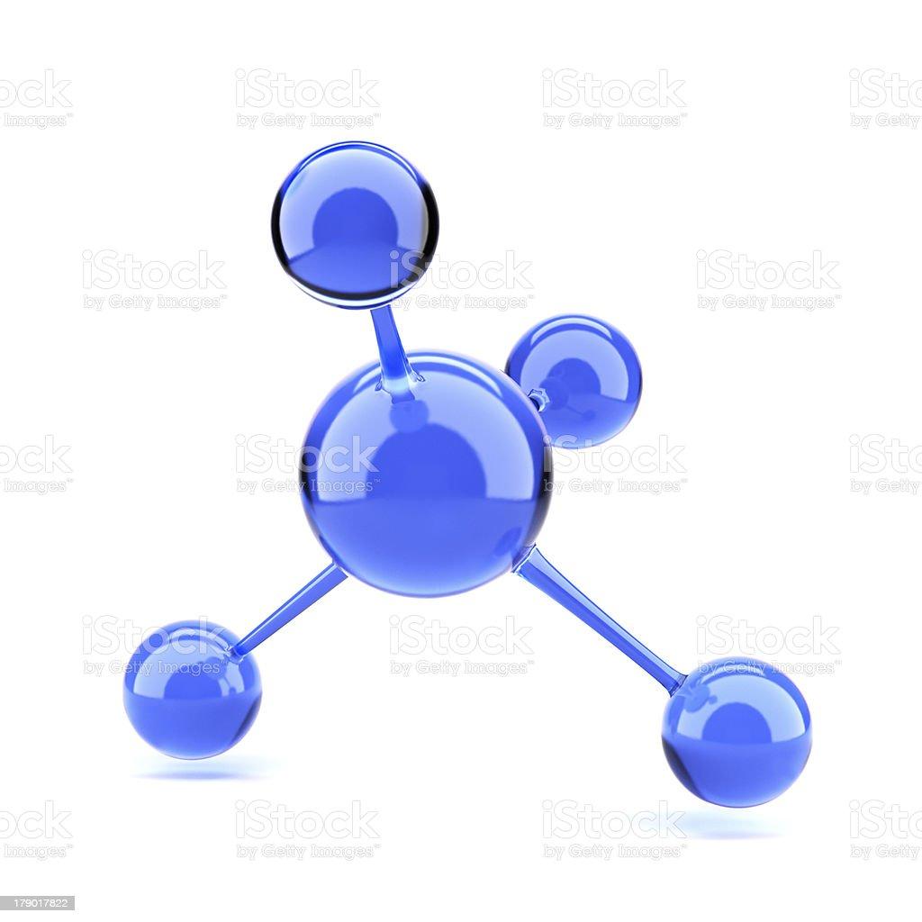 Blue molecule royalty-free stock photo