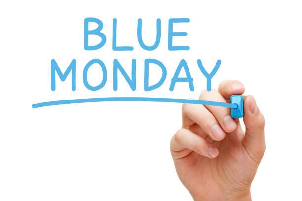 blue monday il giorno più deprimente - blue monday foto e immagini stock