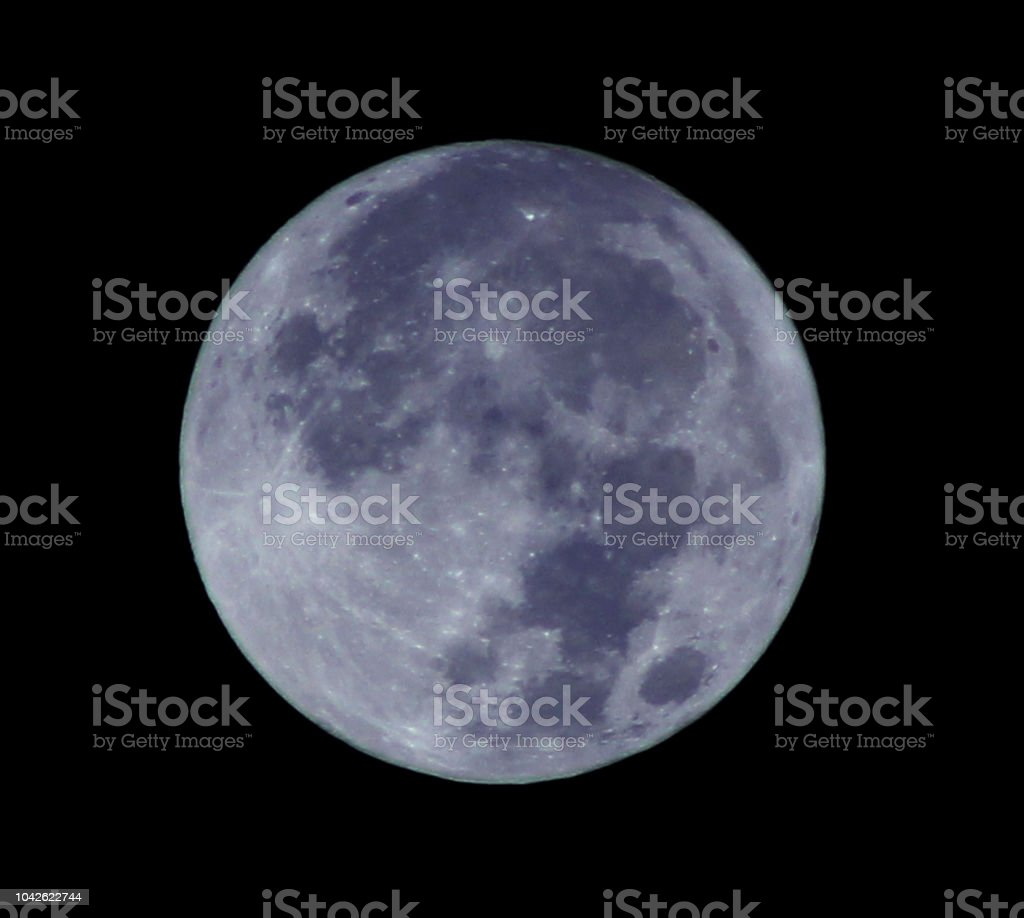 blue moon in the night